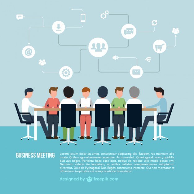 626x626 Business Meeting Infographic Vector Free Download
