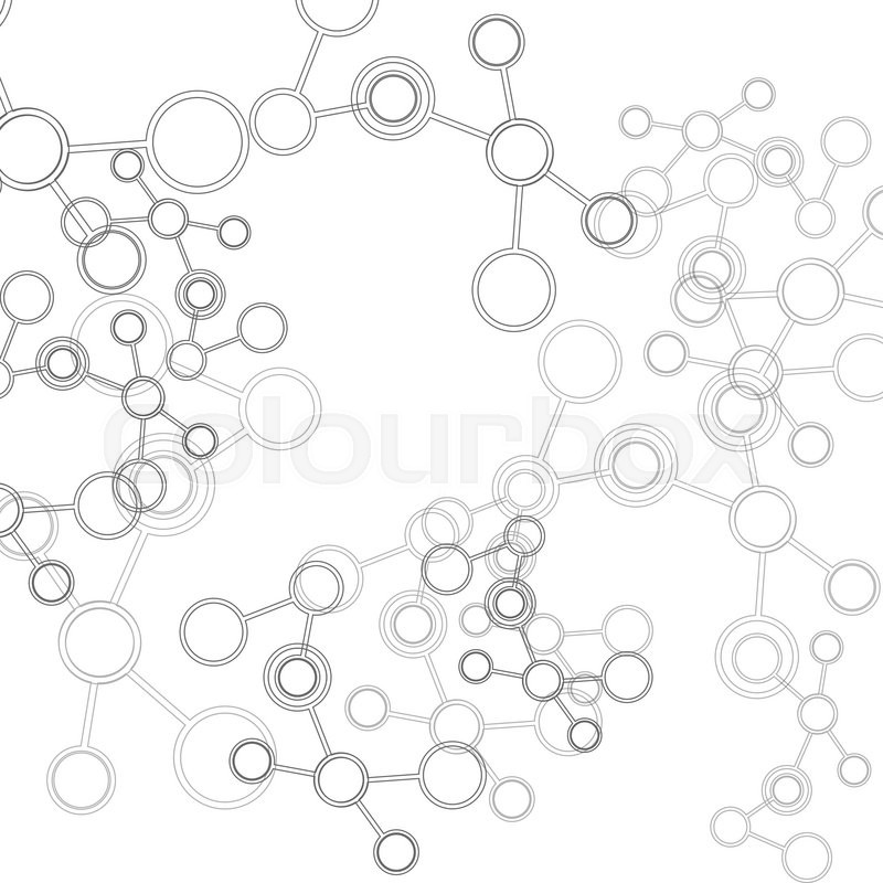 800x800 Design Science Concept. Vector Connect Molecule Background