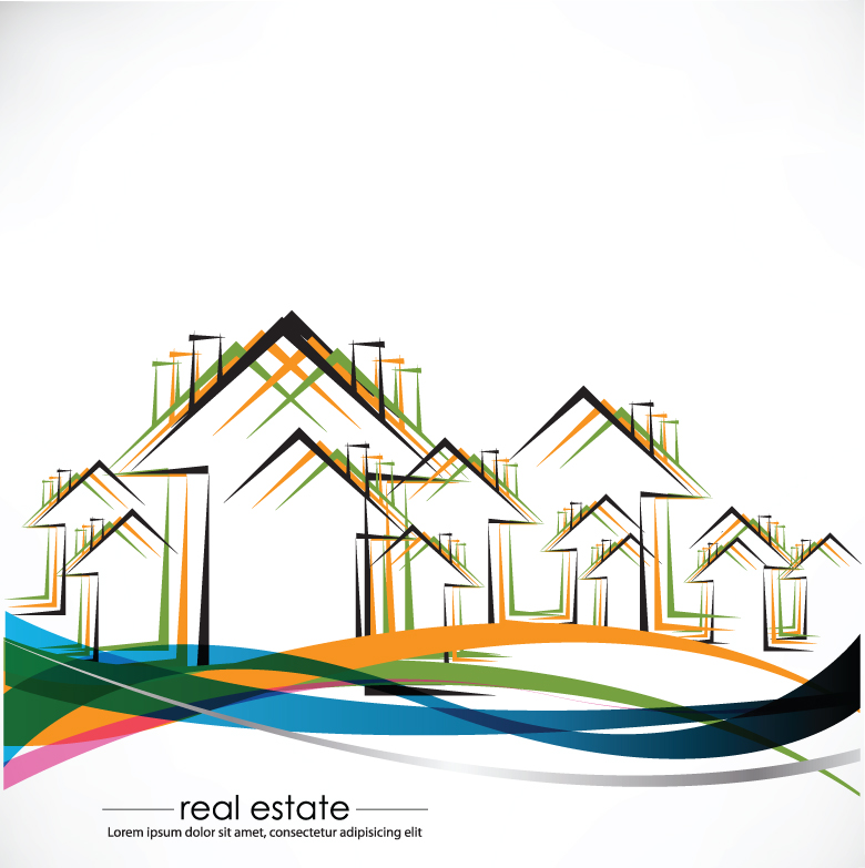 780x783 Construction And Real Estate Simple Pen Drawing 01 Vector Free