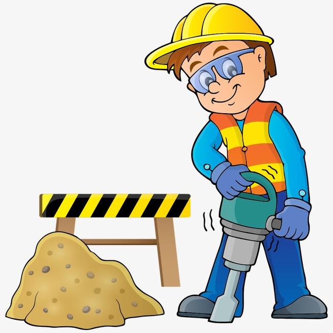 650x650 Cartoon Construction Worker, Cartoon Vector, Construction Vector