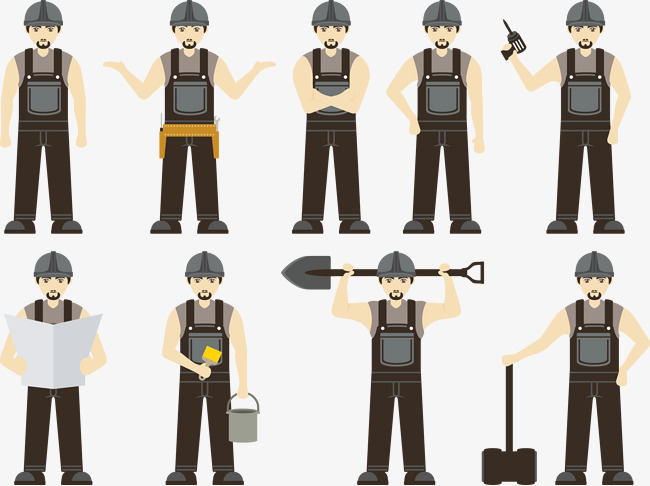 650x486 Vector Construction Workers, Construction Vector, Construction