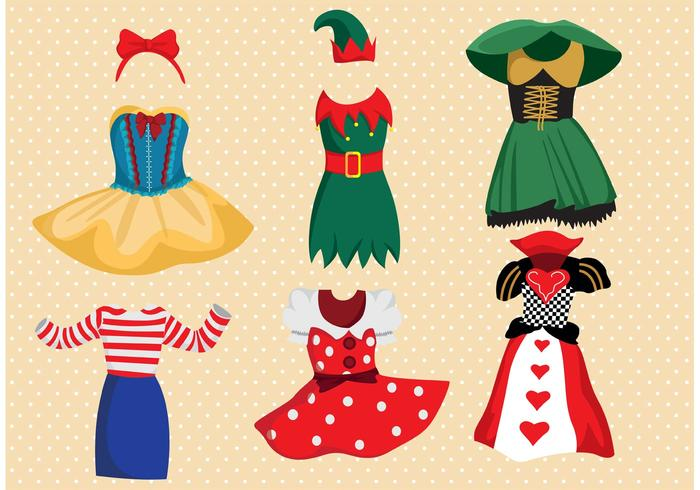 700x490 Fancy Dress Costume Vector Pack