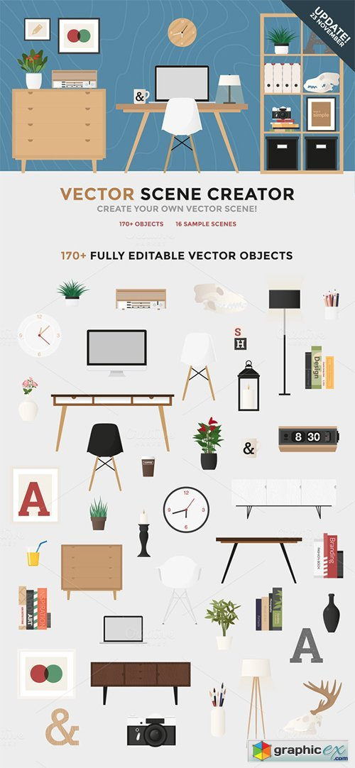 500x1082 Vector Scene Creator Free Download Vector Stock Image Photoshop Icon