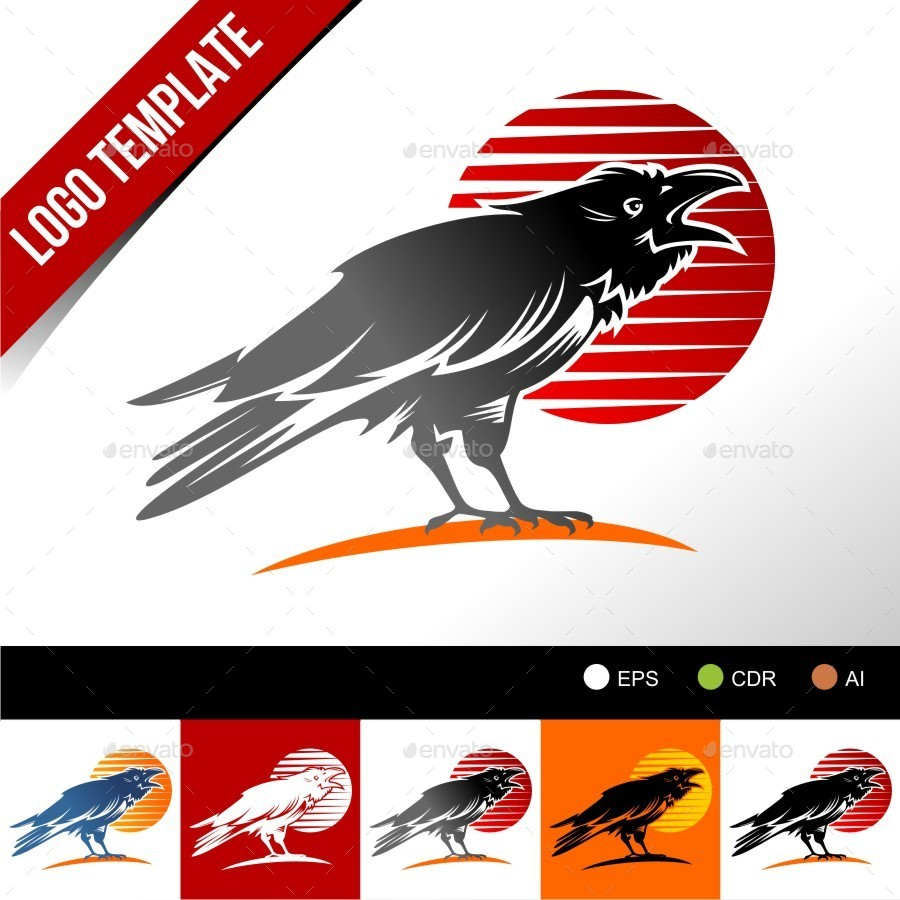 900x900 Vector Crow By Herulogo Graphicriver