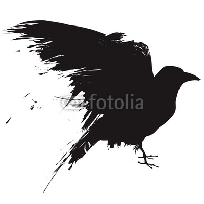400x400 Vector Raven Or Crow In Grunge Style Buy Photos Ap Images