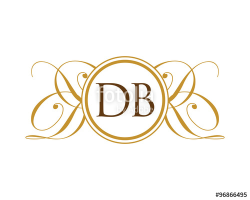 500x400 Db Luxury Ornament Initial Logo Stock Image And Royalty Free