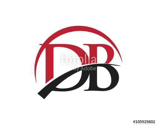 500x400 Db Letter Logo Swoosh Stock Image And Royalty Free Vector Files