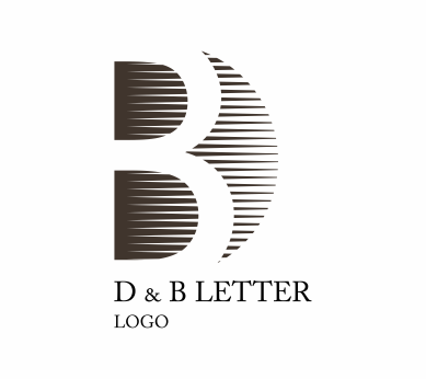 389x346 D B Letter Alphabet Vector Circle Logo Download Vector Logos