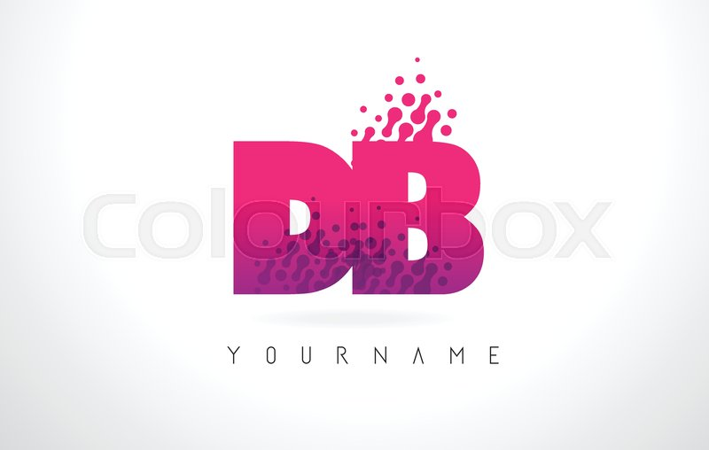 800x508 Db D B Letter Logo With Pink Letters And Purple Color Particles