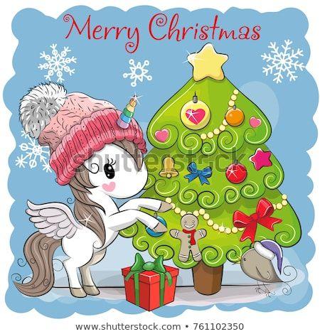 450x470 Descubra Greeting Card Cute Cartoon Unicorn In A Scarf Vectores De