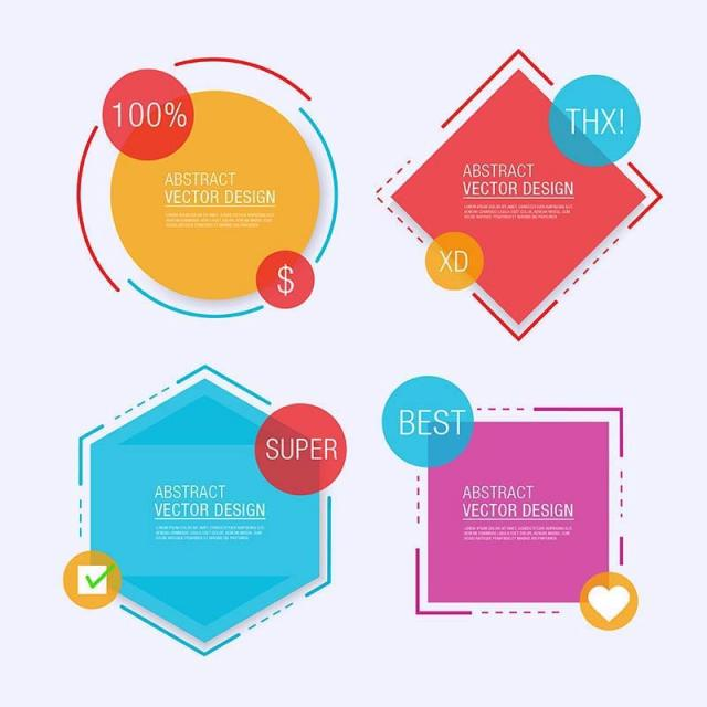 640x640 Abstract Label Design, 40, Set, Label Png And Vector For Free Download