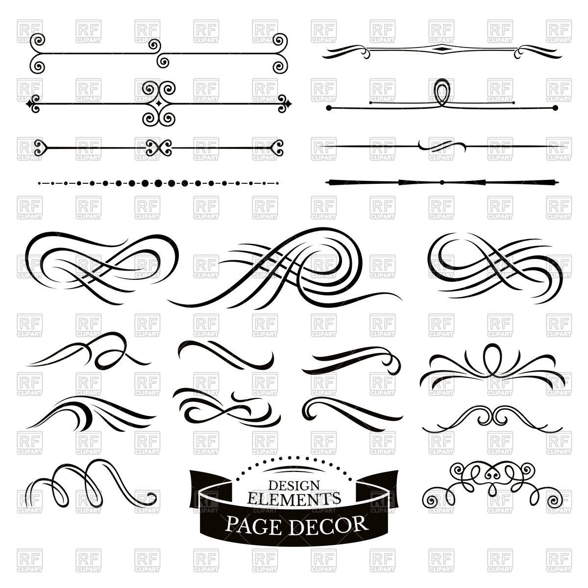 1200x1200 Calligraphic Design Elements