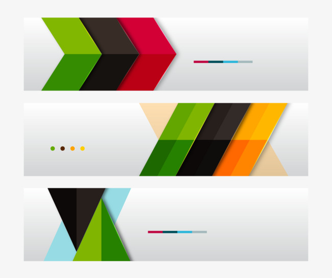 650x543 Creative Geometric Color Banner, Fashion Color Banner, Banner