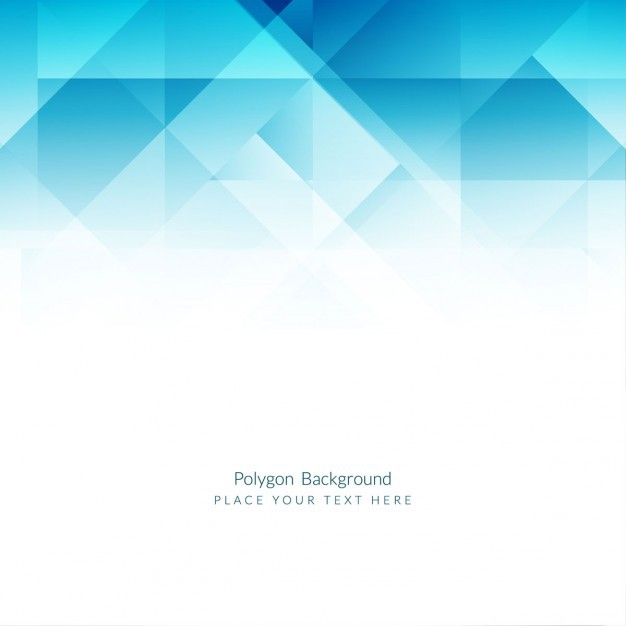 626x626 Vector ] Blue Polygons Background In Flat Design Free Download