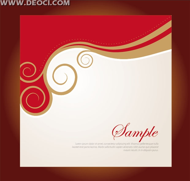 620x590 Vector Red Floral Background Design Company Album Cover Template