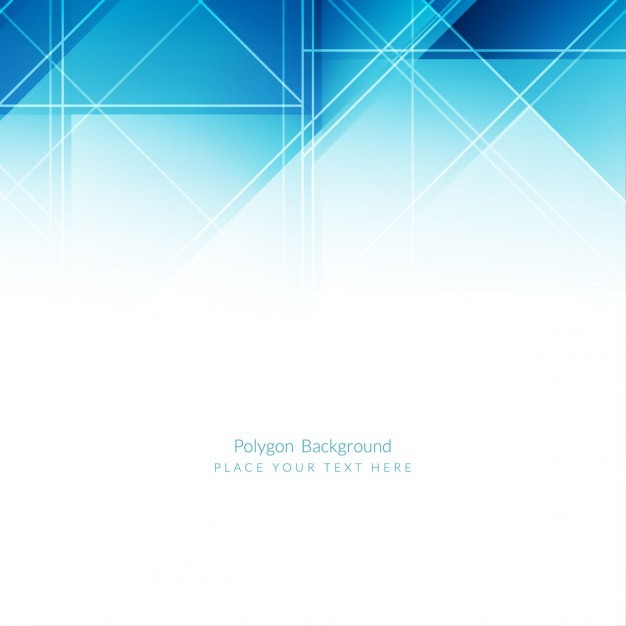 626x626 Ai] Modern Blue Polygons Background Design Vector Free Download