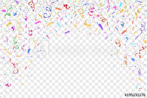 500x334 Festive Design. Border Of Colorful Bright Confetti Isolated On