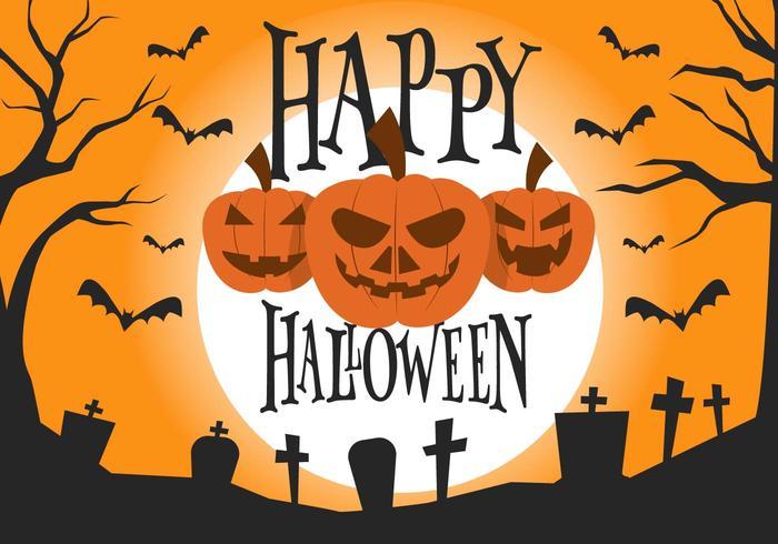 700x490 Free Halloween Vector Illustration