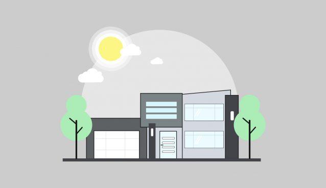 638x368 Illustrator Tutorial Modern House Vector Design ~ Sopheap