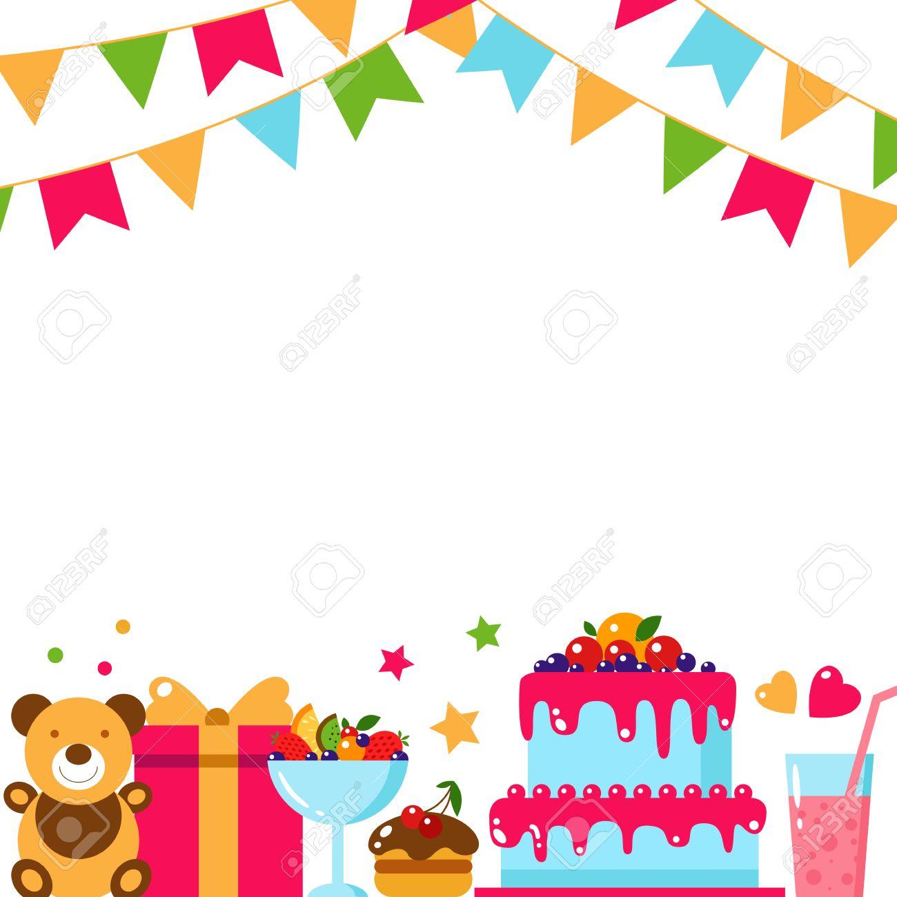 1300x1300 55081312 Happy Birthday Template Card Flat Vector Illustration