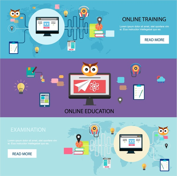 600x598 Online Training Promotion Web Design In Horizontal Style Free
