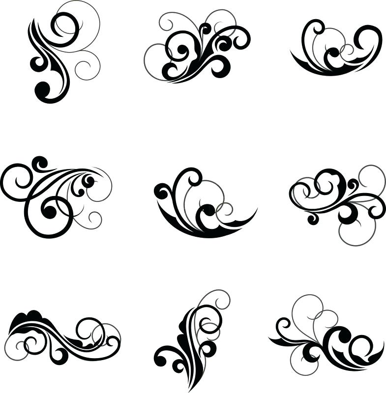 785x800 Floral Design Pattern Floral Design Swirl Pattern Vector Simple