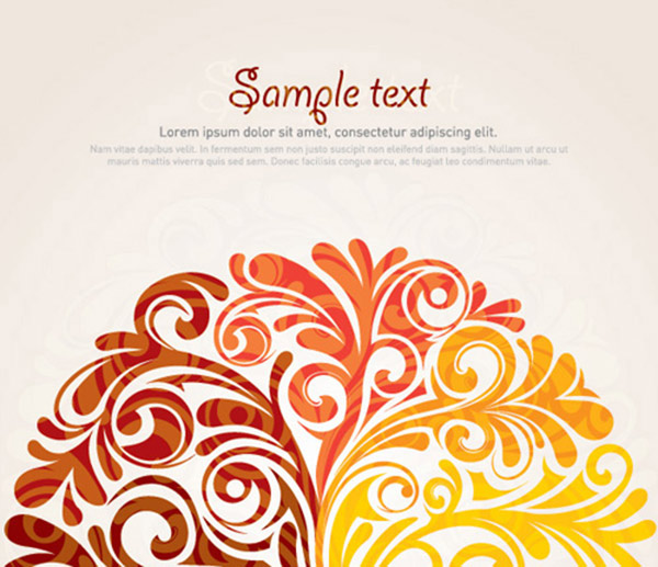 600x517 40 Swirly Curly Amp Floral Based Vector Design Elements Web