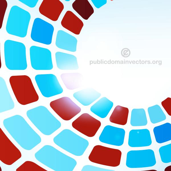 600x600 Abstract Tiles Background In Circular Design Vector 123freevectors
