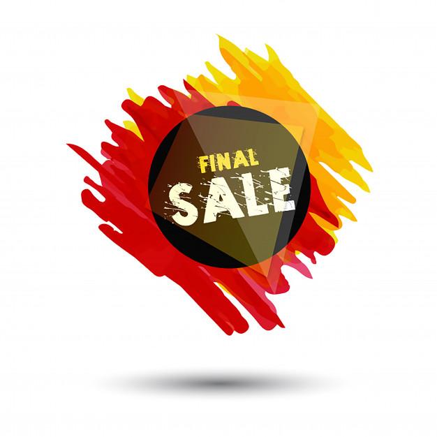 626x626 Pop Style Splatter Sale Designs Vector Free Download