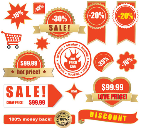 480x440 Sale Vector Labels For Designs