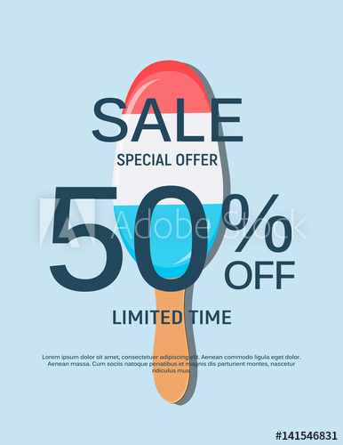 386x500 Abstract Designs Sale Banner Template. Vector Illustration