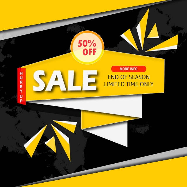 640x640 Vector Sale Banner Designs, Sale, Tag, Label Png And Vector For