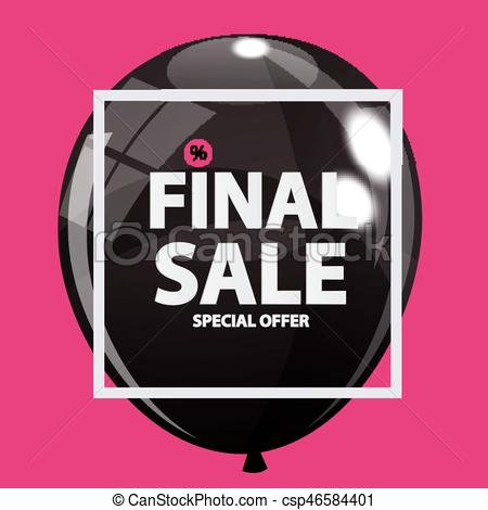 450x470 Abstract Designs Final Sale Banner In Black, Pink Colours With