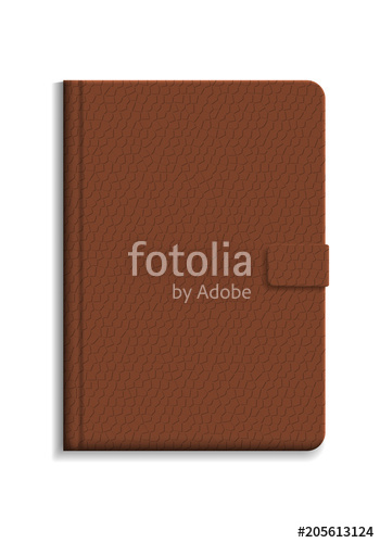 350x500 Diary Or Notebook In Hard Cover With Leather Texture Stock Image