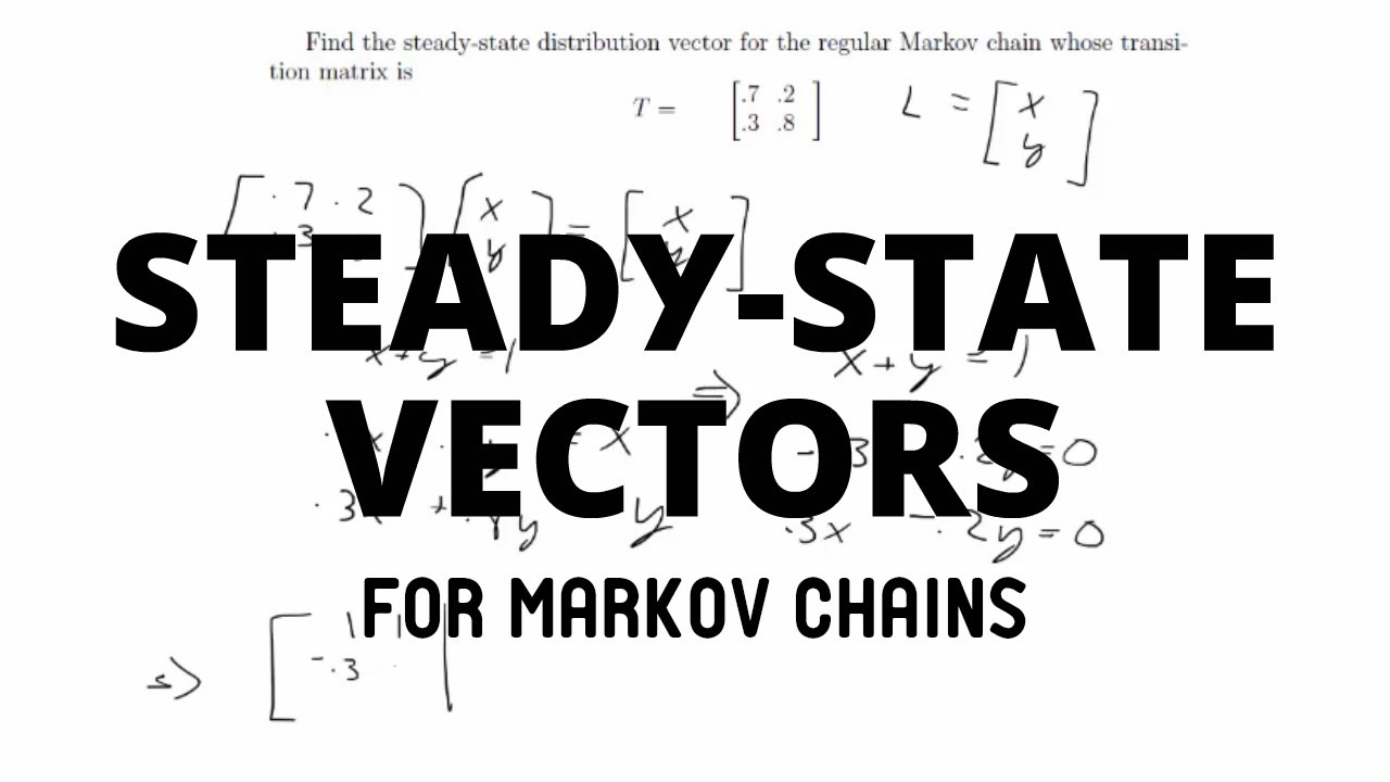 1280x720 Steady State Vectors For Markov Chains Discrete Mathematics