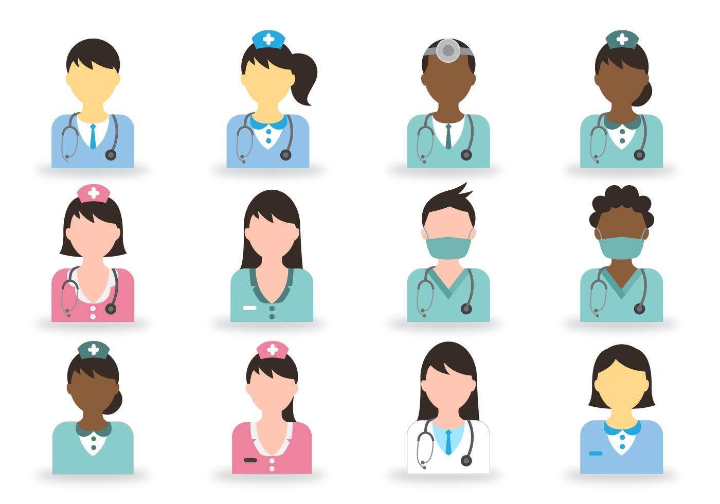 1400x980 Vector Doctor And Nurse Icon