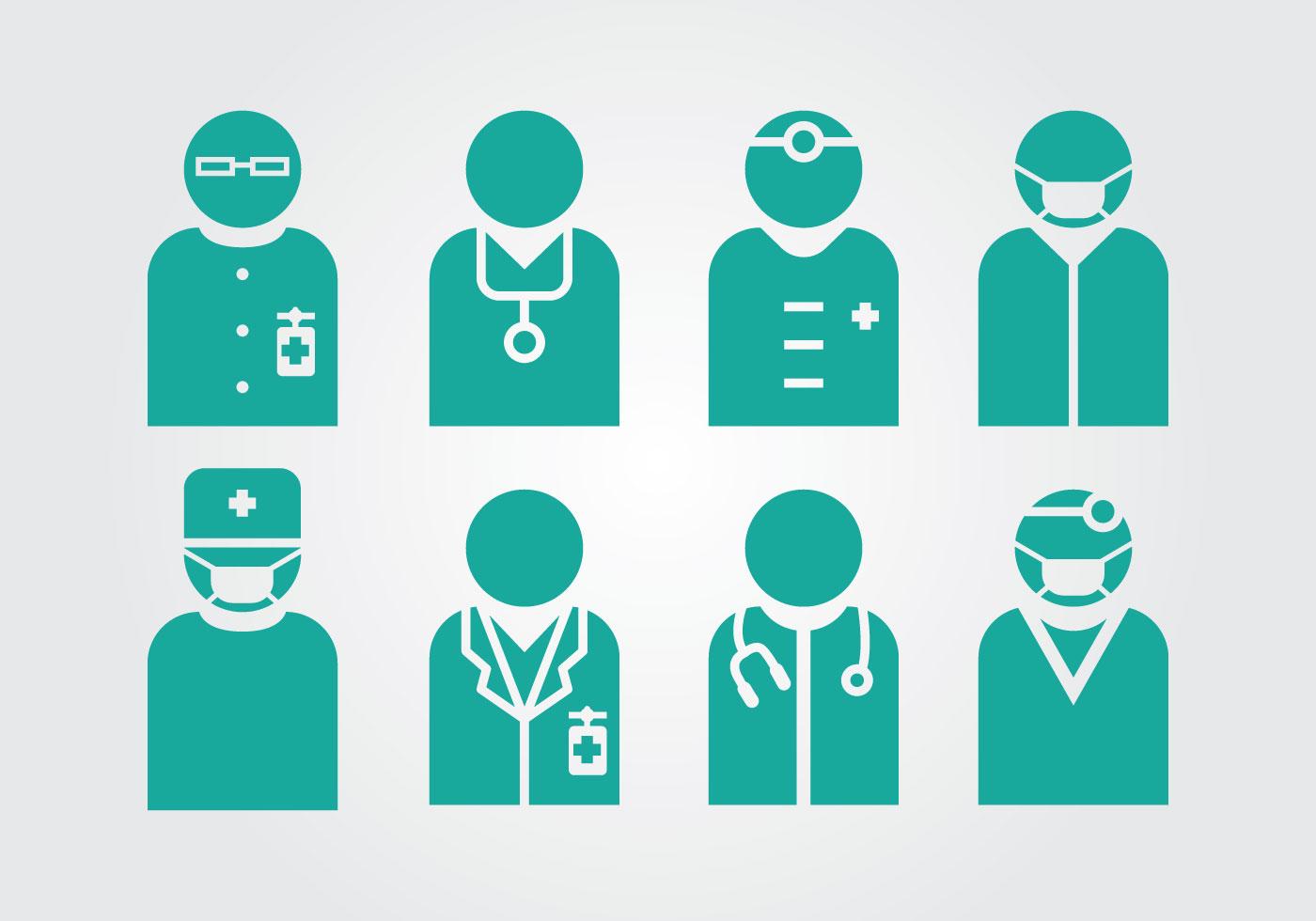 1400x980 Doctor And Nurse Vectors