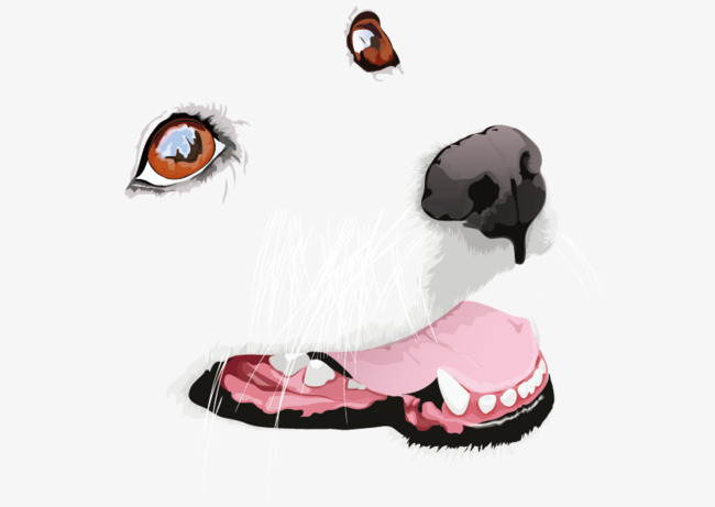 650x461 Vector Dog Face, Vector, Hand Painted, Dog Png And Vector For Free