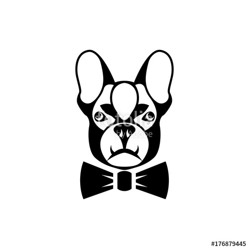 500x500 Vector Dog Head, Face For Retro Hipster Logos, Emblems, Badges