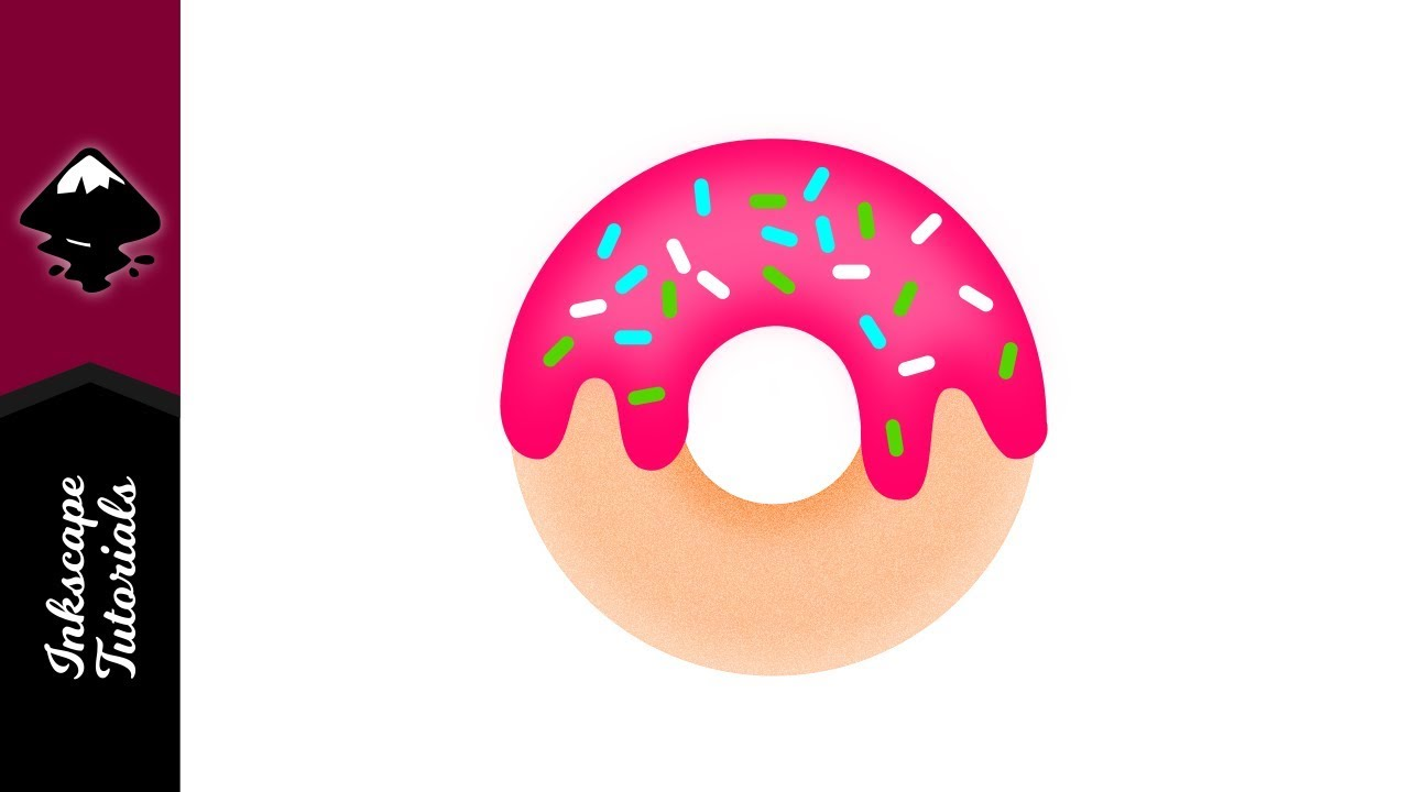 1280x720 Inkscape Tutorial Create A Vector Donut Icing Sprinkles Logo
