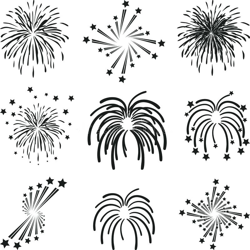 800x800 Download Fireworks Explosion Template Collection Stock Vector