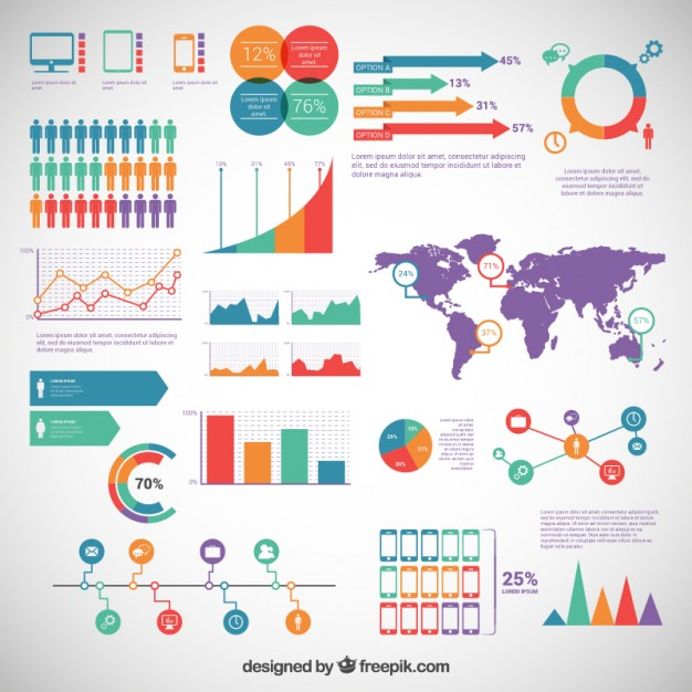 626x626 Infographic Elements Pack Vector Free Download