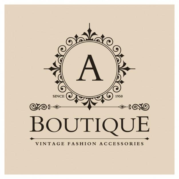 626x626 Logos. Boutique Logos Free Vintage Boutique Logo Vector Free