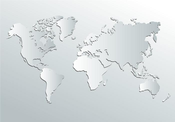 700x490 World Map Gray White World Map Vector Download Free Vector Art