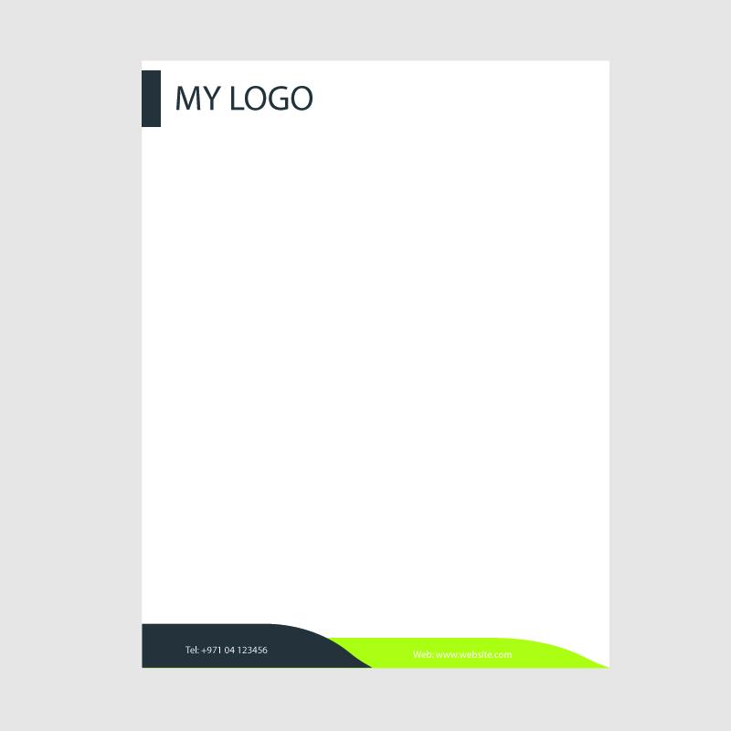 800x800 Creative Business Letterhead Template Design Free Vector Download