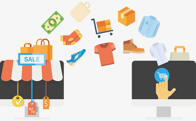 650x400 Discount On Computer Shopping Sites, Computer Vector, Shopping