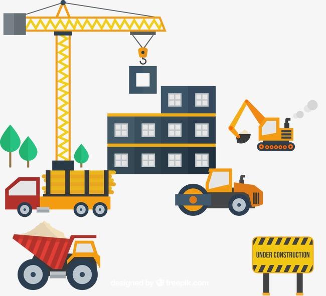 650x591 Vector Material Construction Sites, Construction Vector, Building