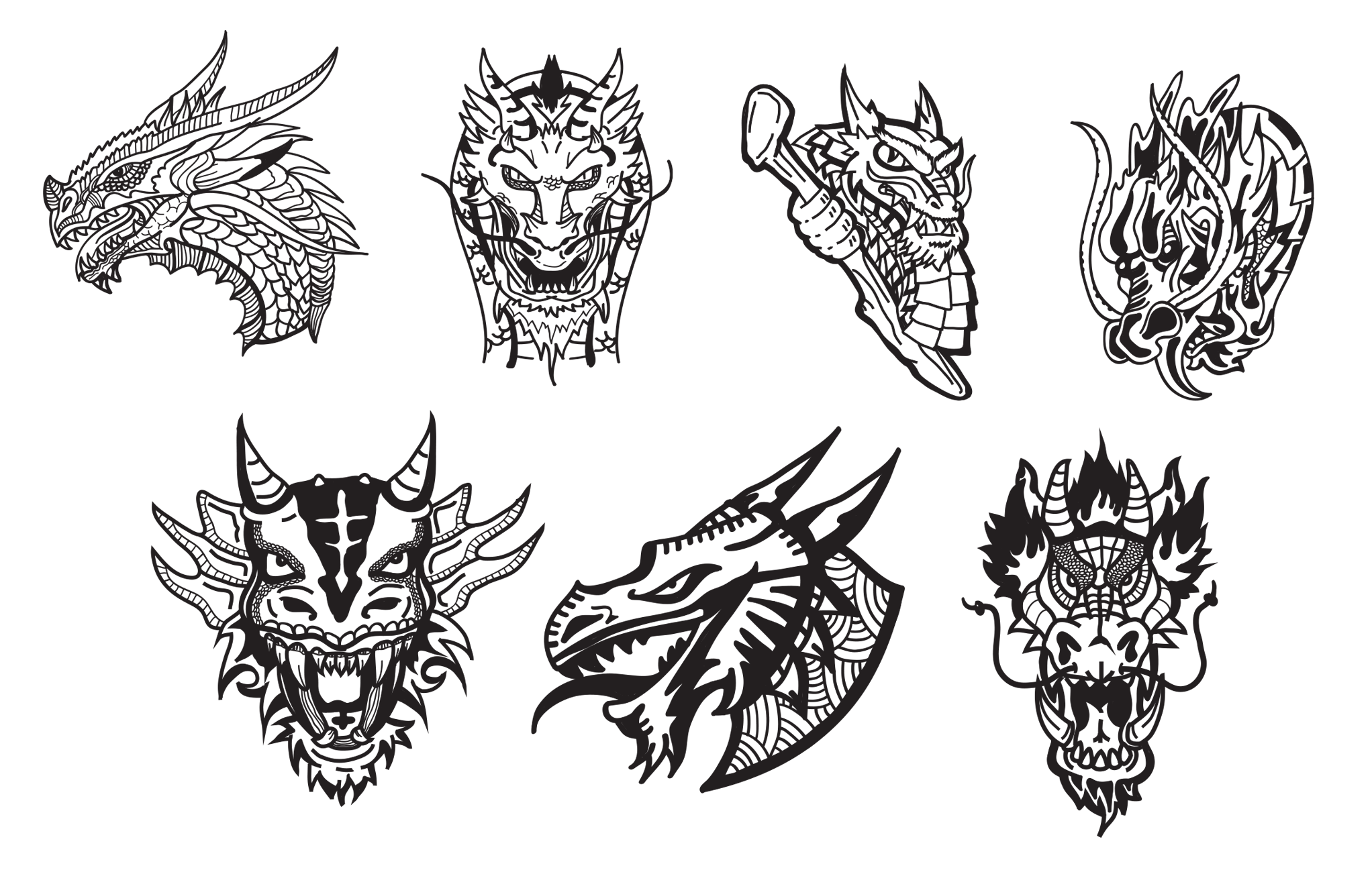 Vector Dragon Head at GetDrawings com | Free for personal