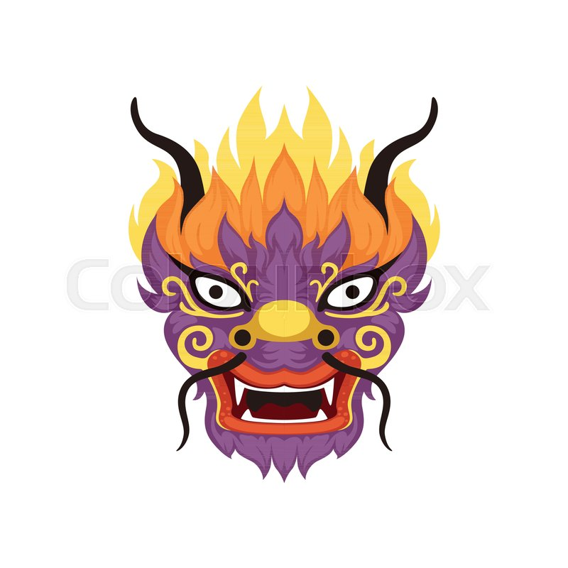 800x800 Dragon Head, Element Of Chinese Traditional Boat Festival Vector