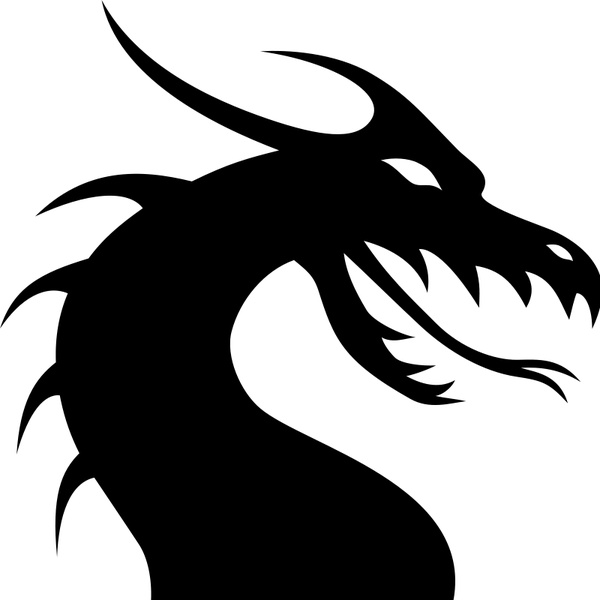 600x600 Dragon Head Silhouette Free Vector In Open Office Drawing Svg